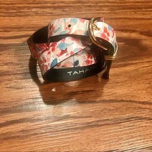 Tahari Floral print Belt